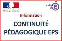 Information : Continuité Pédagogique EPS