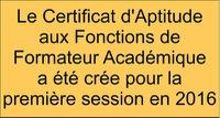 CAFFA : Certificat aux fonctions de Formateur